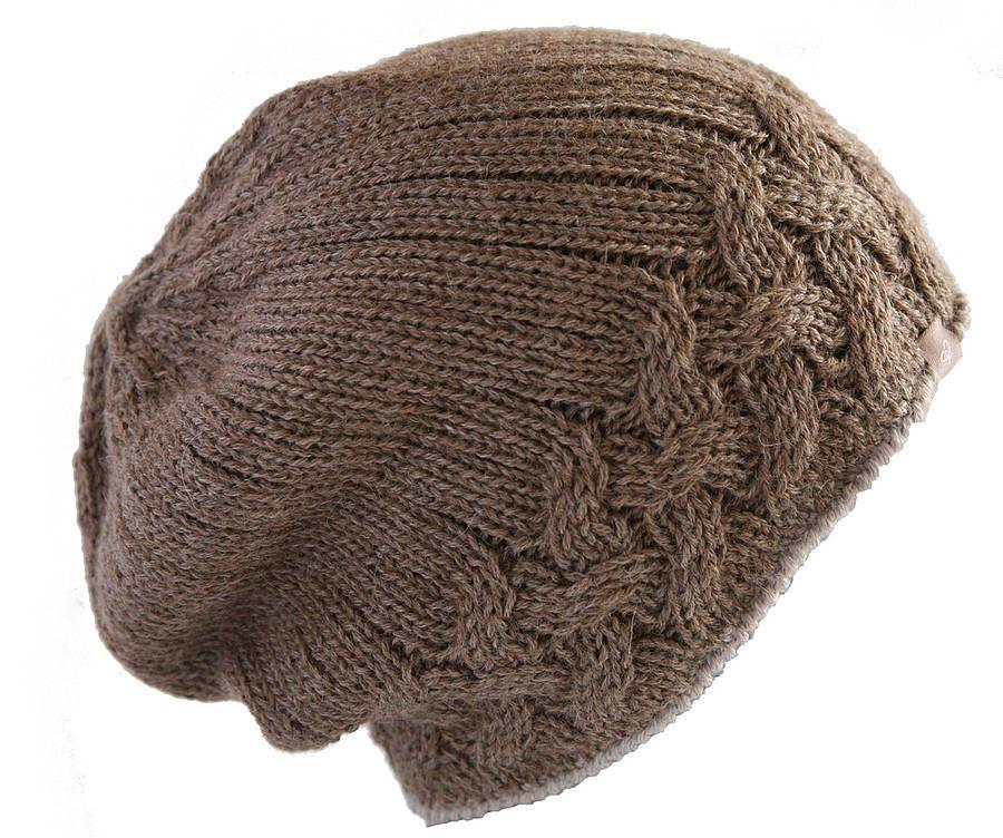 Alpaca Fairisle Cableknit Hat | Gorros, Tejido y Gorros de lana
