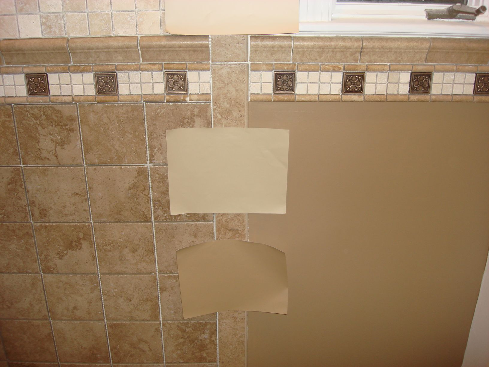 Tan Bathroom Paint Ideas - Brown color schemes captivating brown mosaic ceramic wall