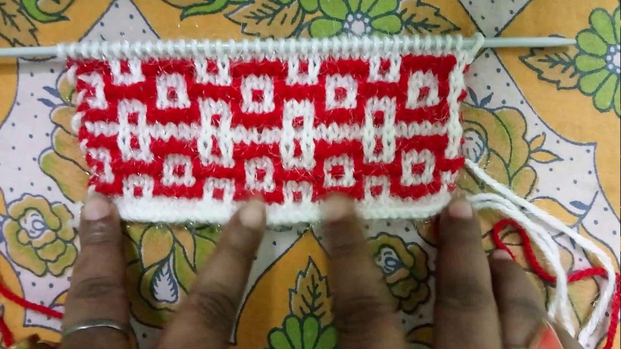 द कलर क ब न ई ड ज इन Two Color Knitting Pattern No 3 Knitting Patterns Two Color Knitting Patterns Knitting Patterns Boys