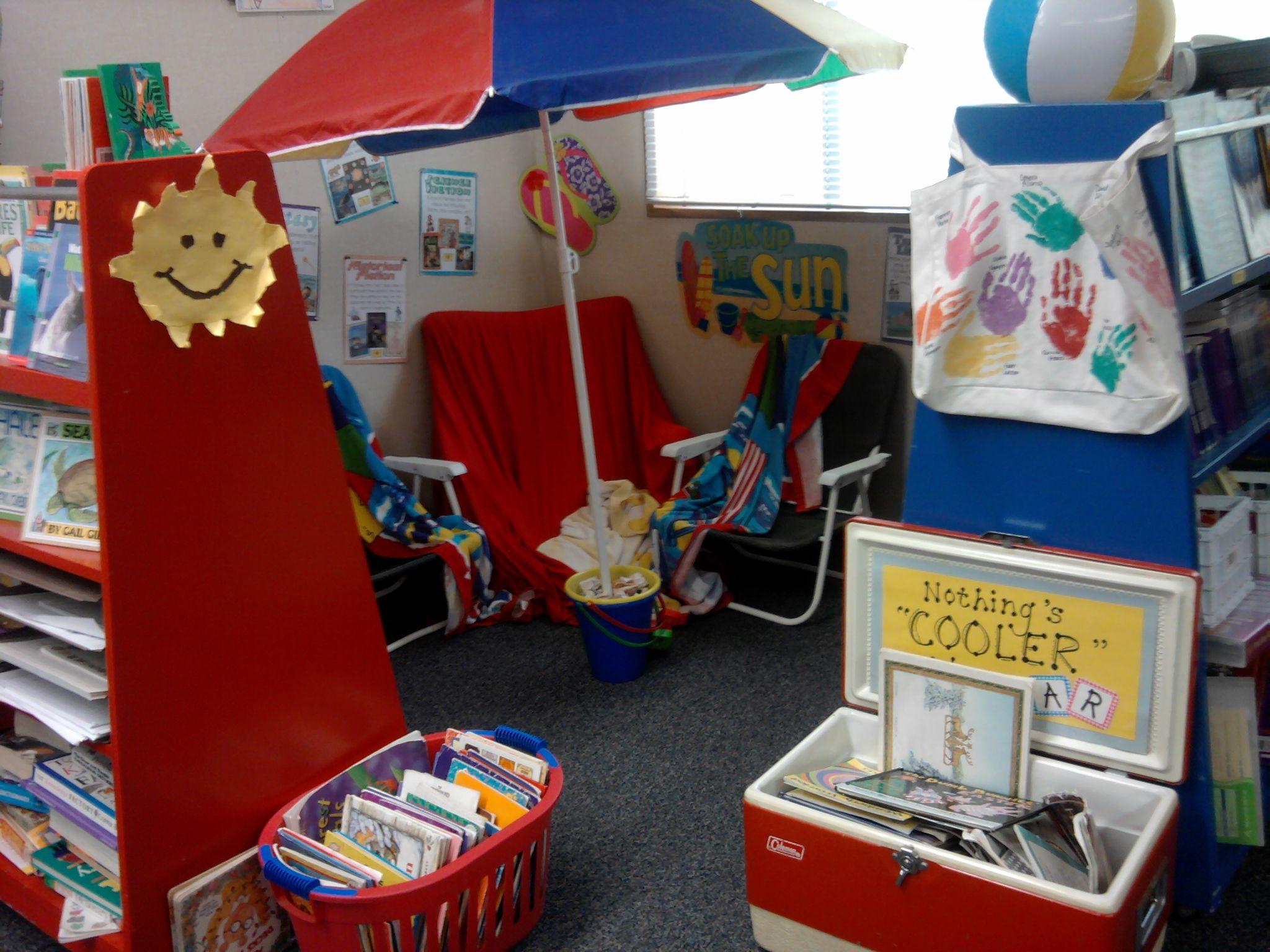 Adorable Beach Theme Reading Center