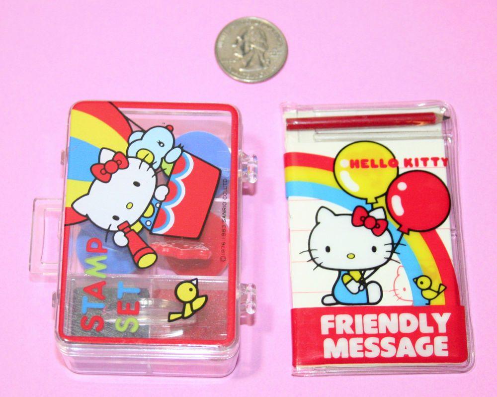 Hello Kitty Stamp set 1976s Vintage Old SANRIO Cute Rare Retro