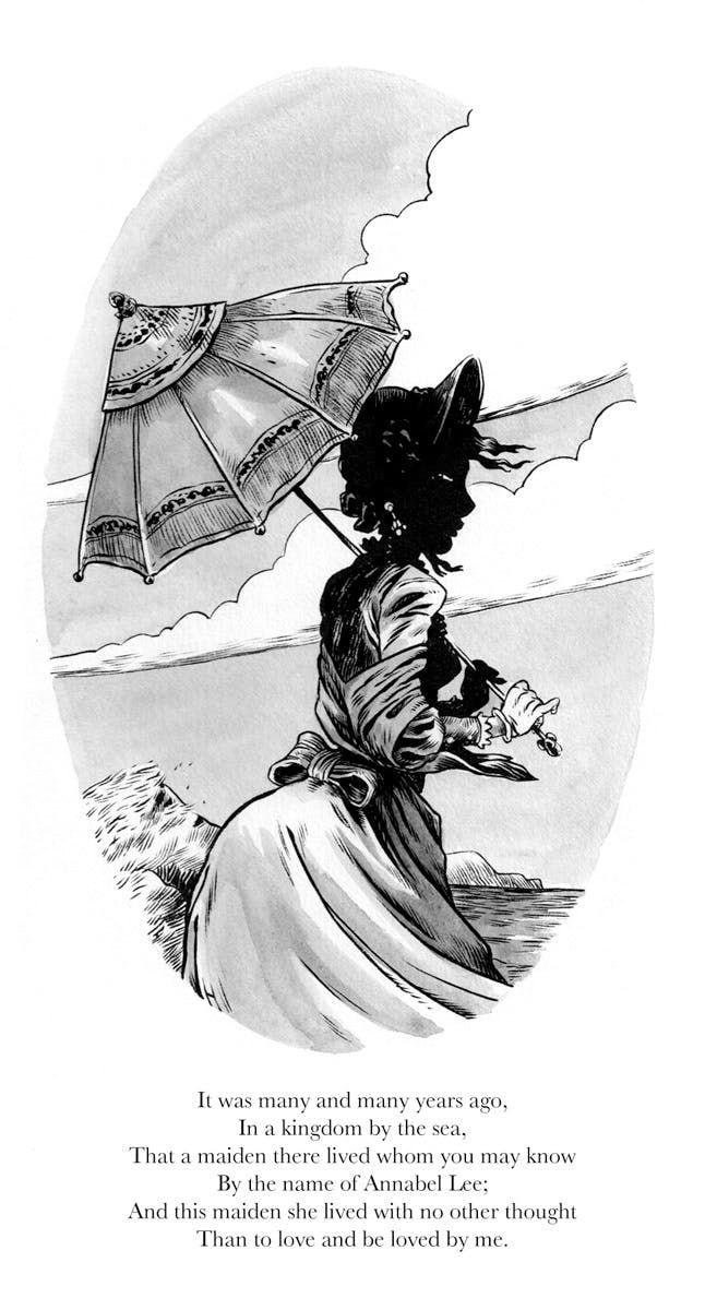 Robot 666 Greg Hinkle Illustrates Edgar Allan Poe S Em Annabel Lee Em Edgar Allen Poe Quotes Edgar Allen Poe Art Edgar Allan Poe Quote