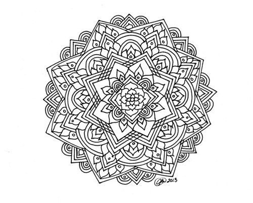 hard coloring pages mandala coloring pages