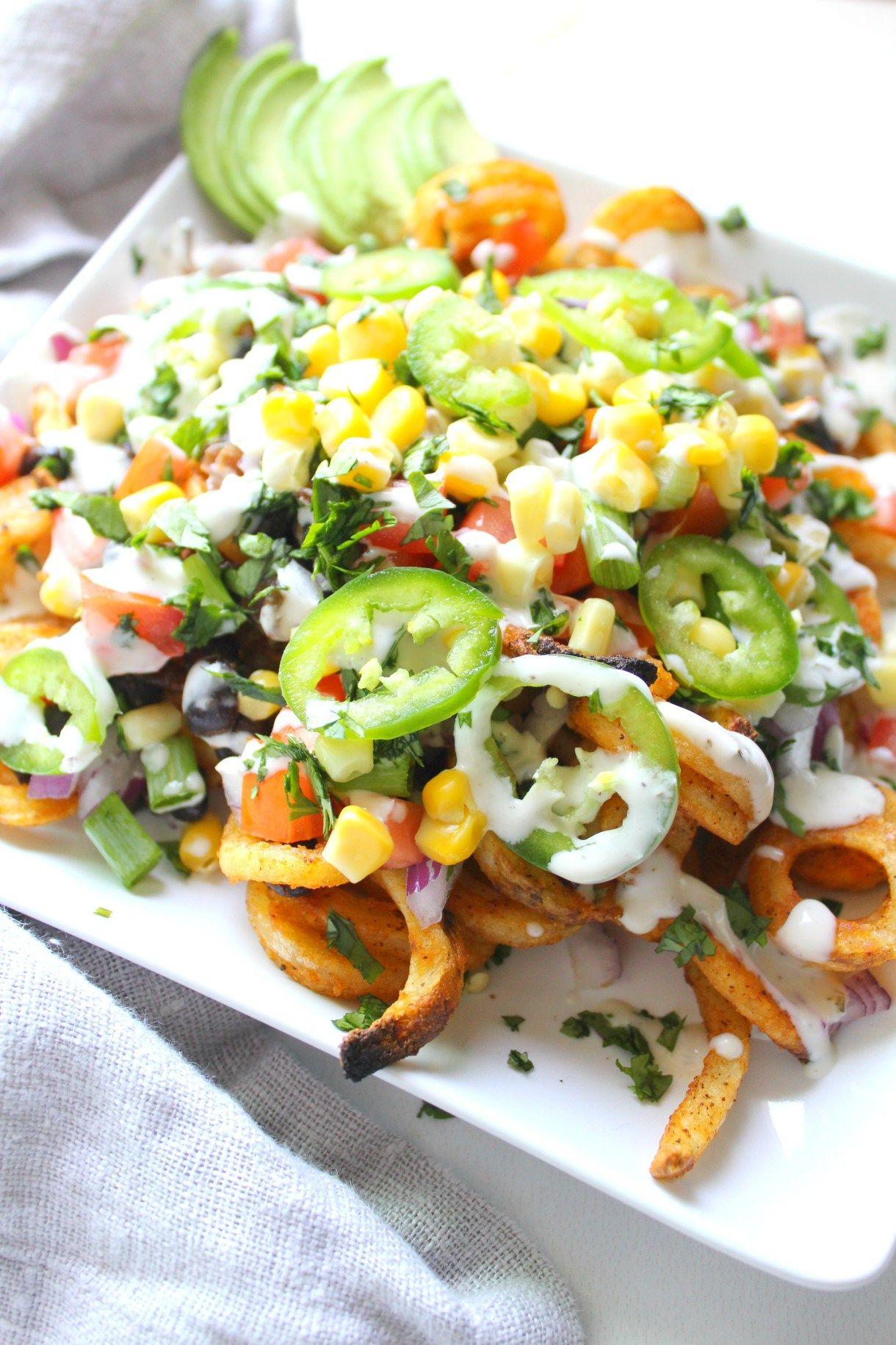 Loaded Vegan Taco Fries