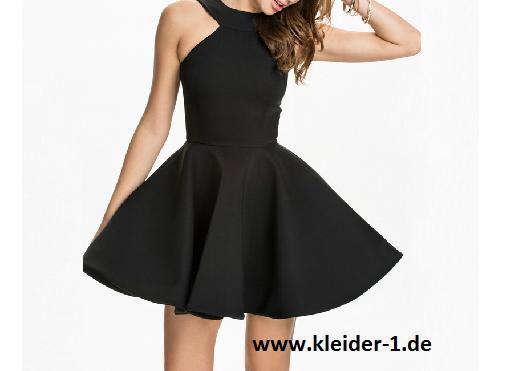 Kurzes Sommerkleid Cocktailkleid Varena in Schwarz | Kle der ...