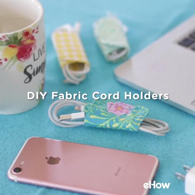 DIY Fabric Cord Holders