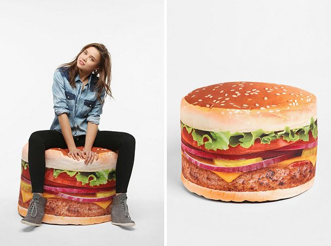 Delicieux Hamburger Bean Bag