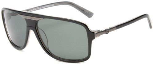 ea15333d8166 Von Zipper Stache Polarized Aviator Sunglasses,Black Smoke Frame/Grey Poly  Polar Lens,one size VonZipper. $139.95