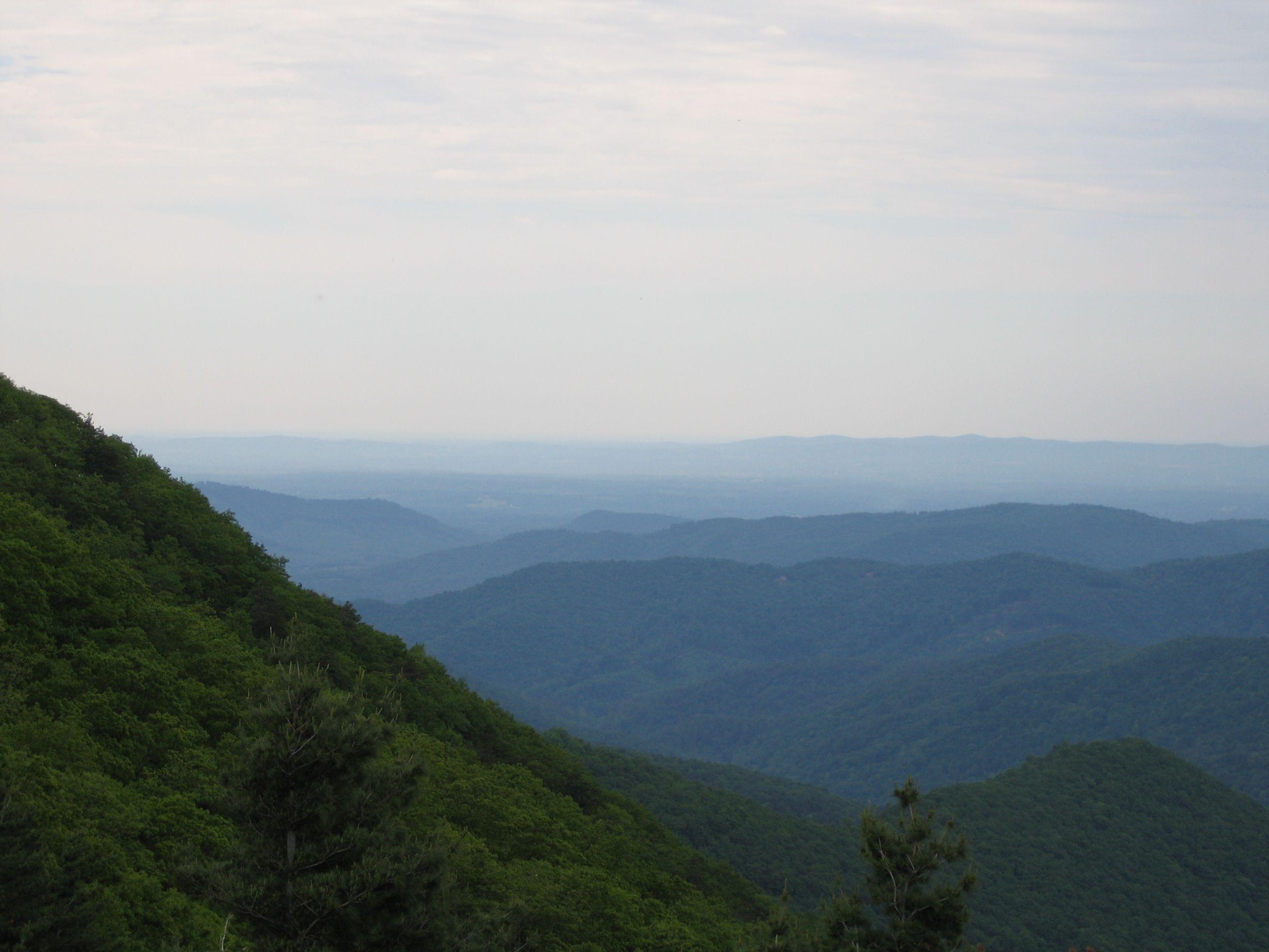 Scenic Overlook Along The Blue Ridge Parkway Brp Blue