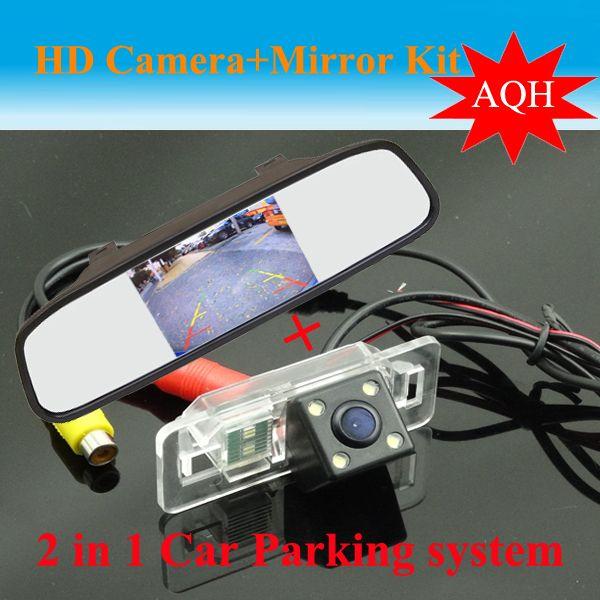 "4.3"" Car Reverse Camera Car Mirror TFT LCD Color  + For BMW 3/5/6 Series X3 X5 E39 E81 E87 E90 E91 E92 E60 E61 E81 E87 E90 E91"