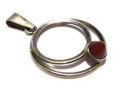 ESTATE FINLAND SALOVAARA MODERN STERLING SILVER 925S RED POINTED STONE PENDANT
