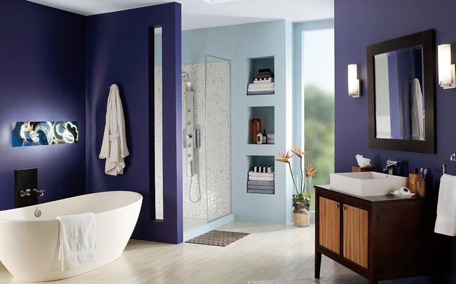bathroom paint color selector the home depot dark on home depot wall paint colors id=97984