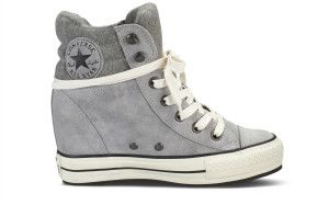 de1fbeff7ce2 Chuck Taylor All Star Platform Plus Collar Suede Hi Lucky Stone. Chuck  Taylor All Star Platform Plus Collar Suede Hi Lucky Stone Wedge Sneakers