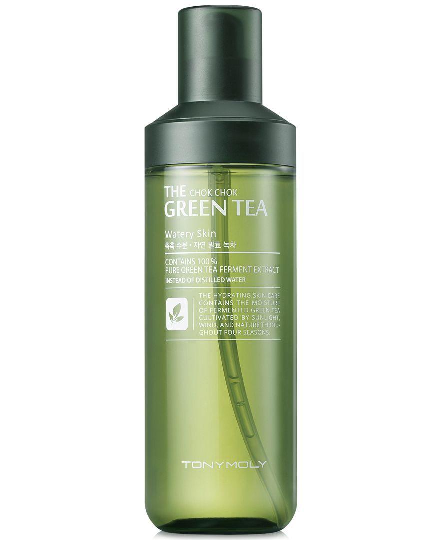 Tonymoly The Chok Chok Green Tea Watery Skin Toner Reviews Skin Care Beauty Macy S In 2020 Skin Toner Green Tea Skin Care Skin Care Toner Products