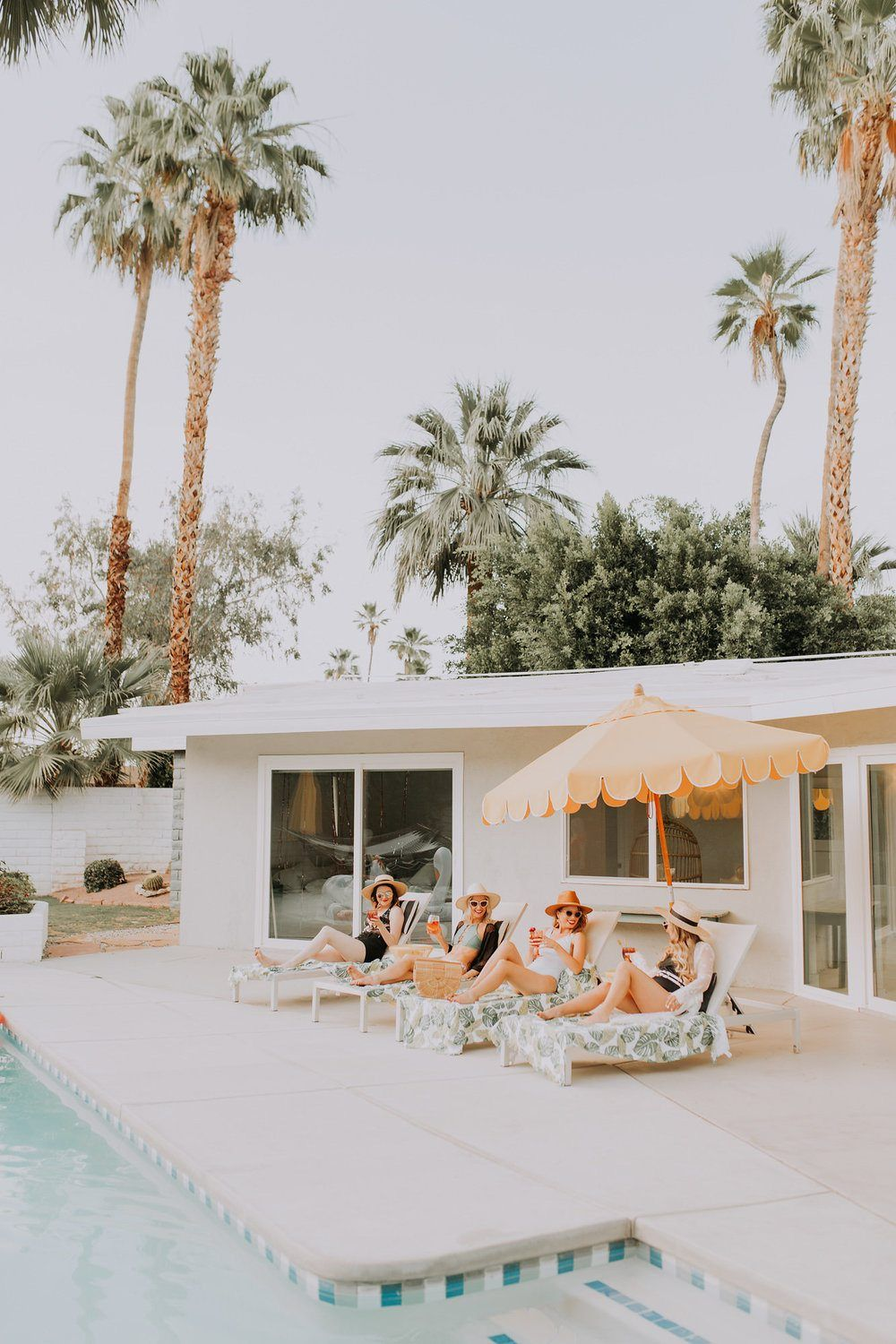 Palm Springs Bachelorette Party with Tropical Bohemian