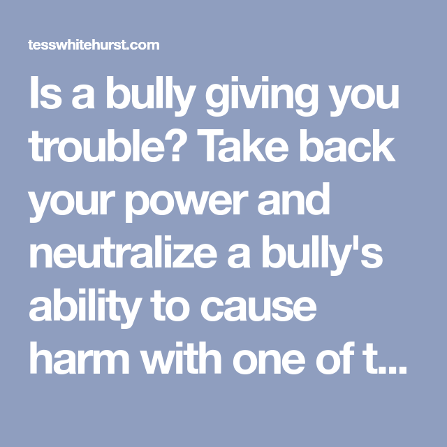 The Good Witch's Guide To Binding A Bully