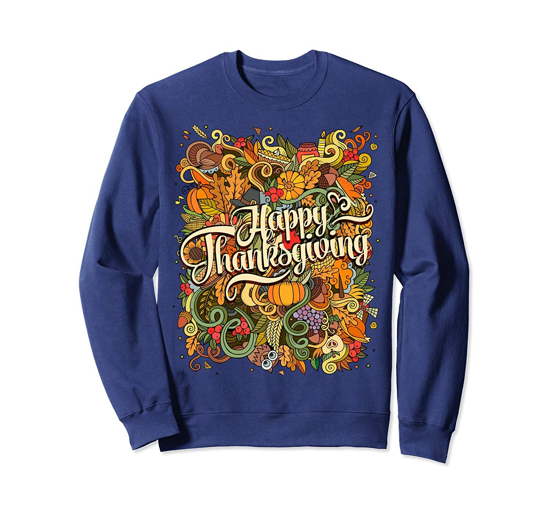 Happy Thanksgiving Day Hello Fall Harvest Parade Turkey Day Sweatshirt #hellofall