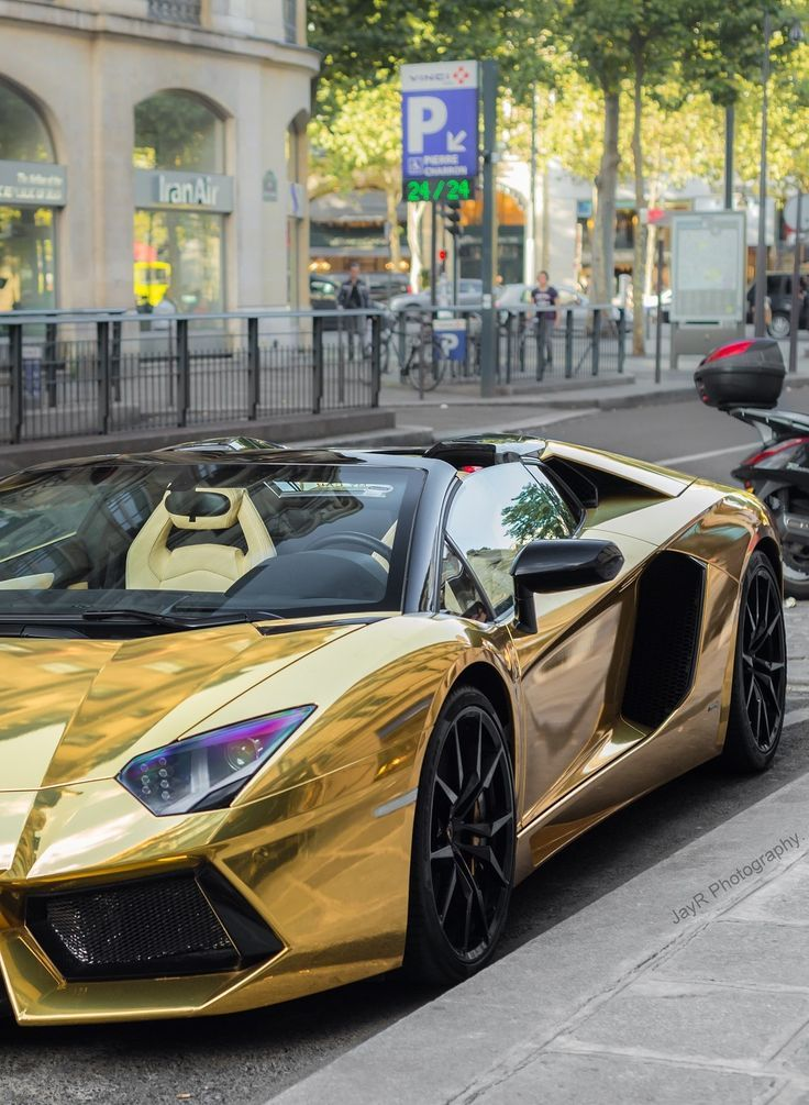 Gold Wrapped Lamborghini Aventador. Does This Have Style? Hot Or Not? Click  To
