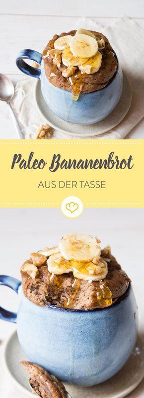 Paleo Tassen-Bananenbrot ohne Mehl