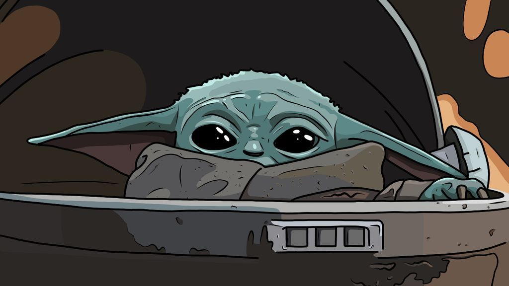 Baby Yoda by in 2020 (With images) Yoda