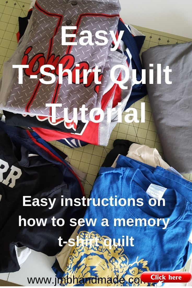 Easy tshirt quilt instructions 2019 quilt decor