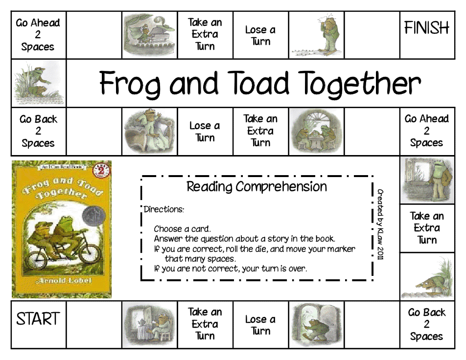 Frog and Toad Together Game.pdf Reading comprehension