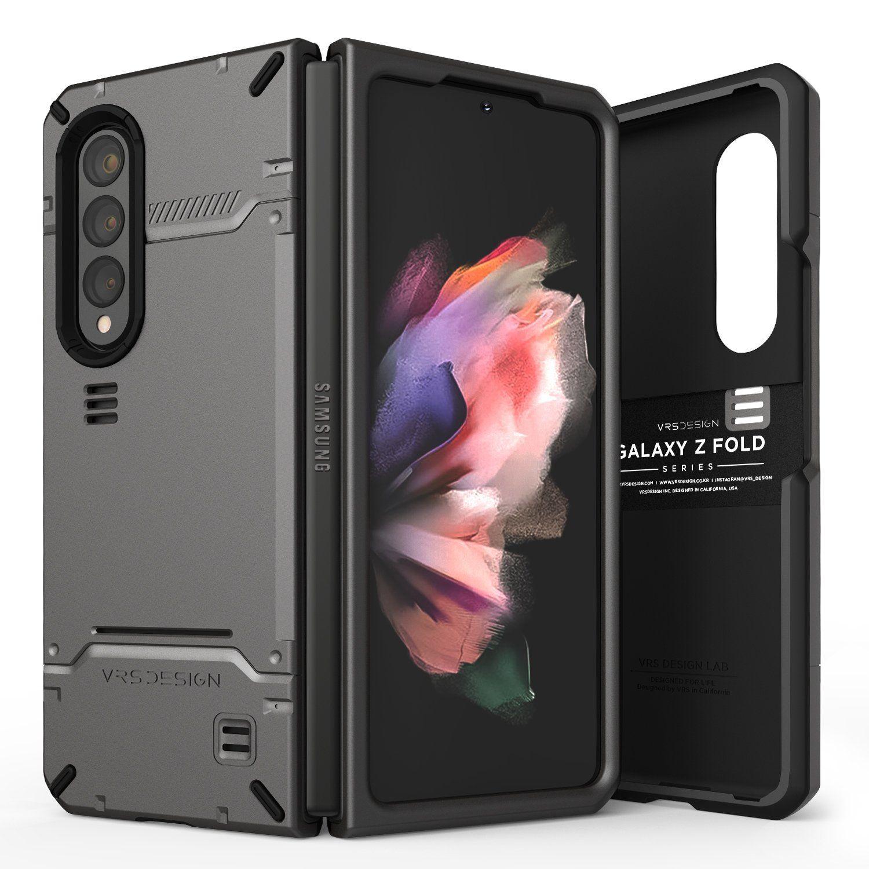 Galaxy Z Fold 3 5G Case Hard Drop - Metal Black