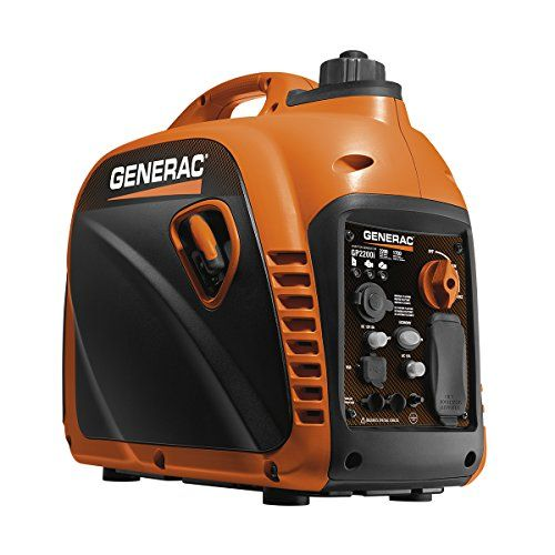 Generac 7117 Gp2200i 2200 Watt Portable Inverter Generator Parallel Ready With Images Inverter Generator Best Portable Generator Portable Generator