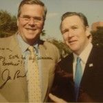 George W. Bush impersonator with Jeb Bush