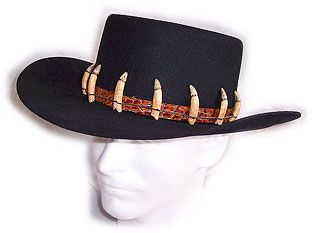 Crocodile Dundee inspired custom hat from Baron Hats! The Croc Trapper 77cb7136c413