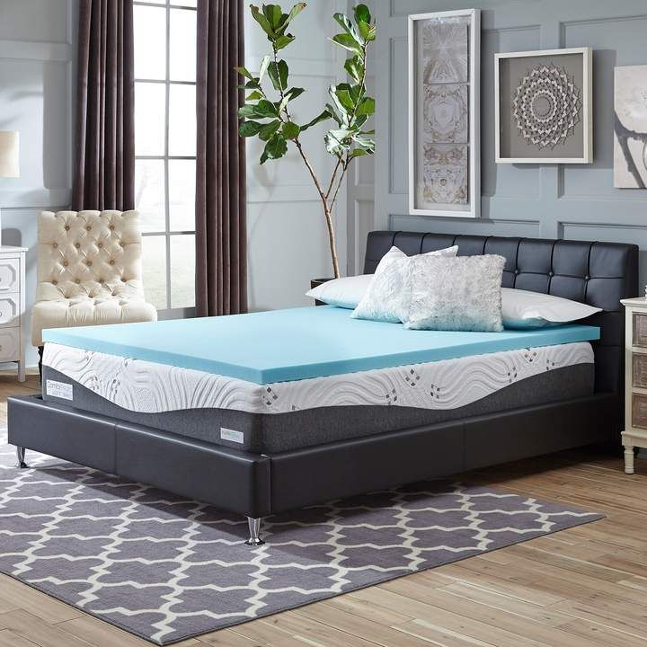 Comforpedic From Beautyrest Comforpedic From Beautyrest 2 Inch Nrgel Flat Mattress Topper