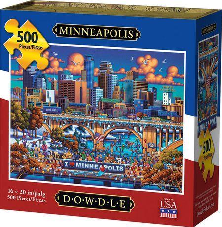 Dowdle Jigsaw Puzzle Minneapolis 500 Piece Jigsaw