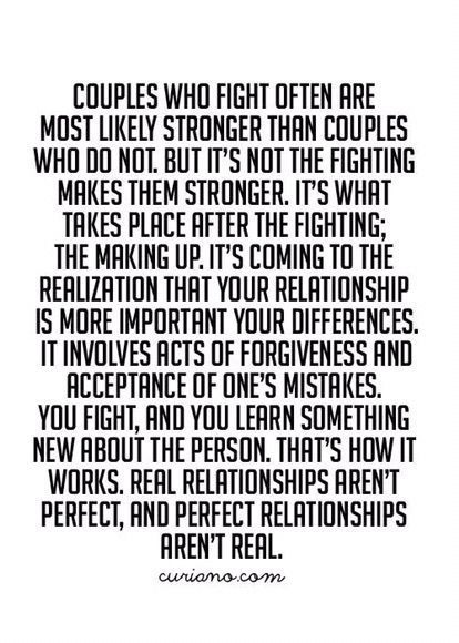 Real relationships aren't perfect and perfect relationships aren't real
