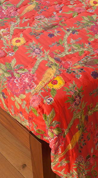 Printed cotton quilt from ://bringingitallbackhome.co.uk/shop ... : red quilted bedspreads - Adamdwight.com