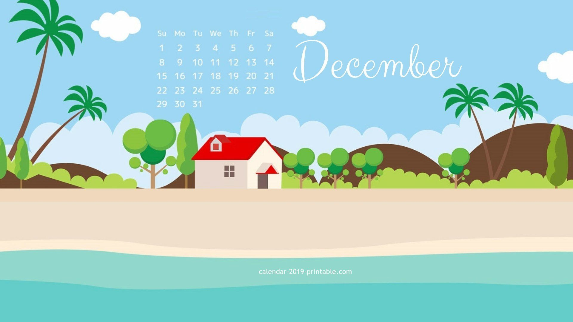 December 2019 Calendar Wallpaper Desktop december 2019 hd calendar wallpaper | 2019 Calendars | December