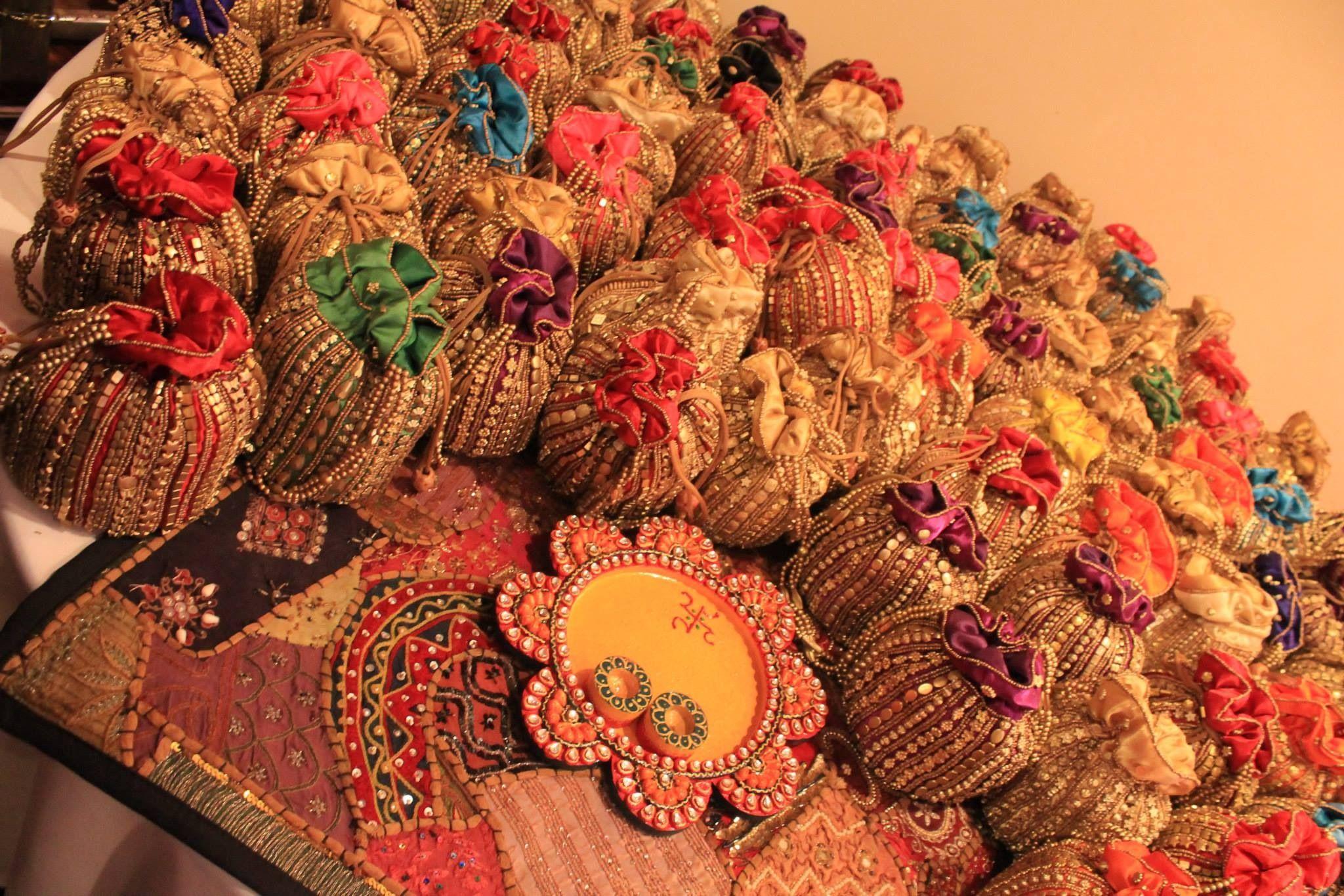 Indian wedding, Sangeet, mehendi, favors, sweet bags