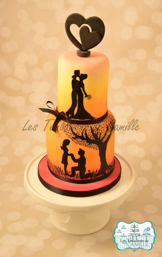 Love Story - Cake by Les Tentations de Camille | wedding | Pinterest ...