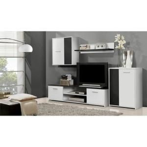 170e achetez votre ensemble meuble tv mural noir blanc 22000 cm ibiza - Meuble Tv Design Ibiza A Led