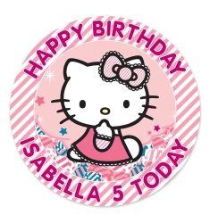 Hello Kitty Edible Cake Topper