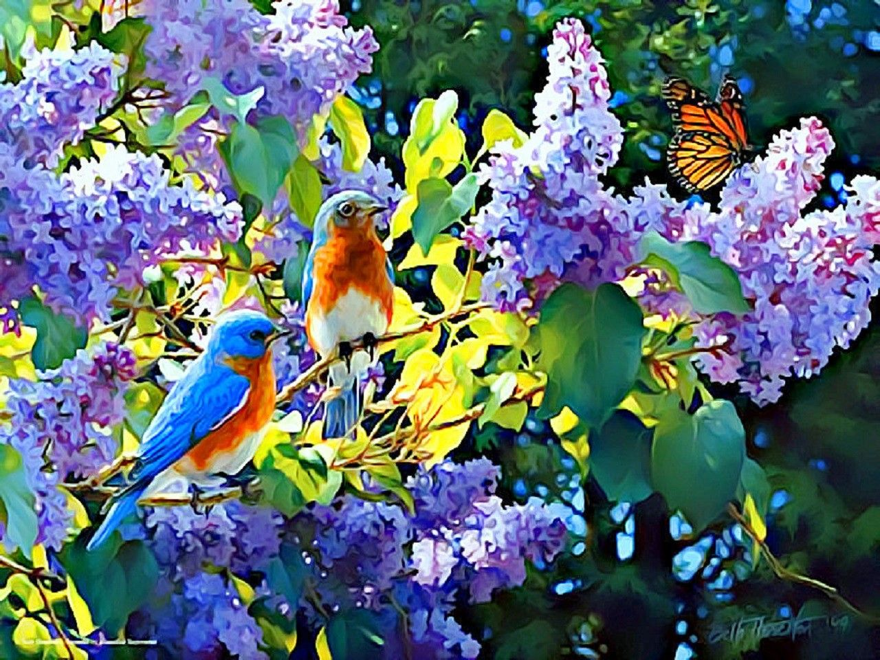 Butterfly Lovely Beautiful Animals Butterflies Love Designs Art Four Spring Creative Pre Trees Inter In 2020 Beautiful Flowers Pictures Flower Pictures Spring Painting