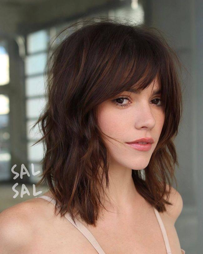 Modne Fryzury Z Grzywką 2019 Cięcia Dla Włosów Do Ramion I