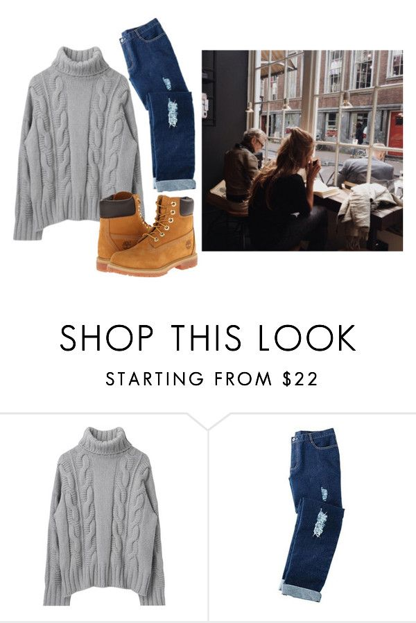 """Ok but first tea or coffe"" by aby-ocampo ❤ liked on Polyvore featuring Avon, Timberland and Coffee Shop"
