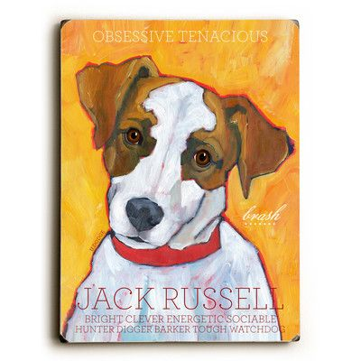 Artehouse LLC Jack Russell Graphic Art | Wayfair
