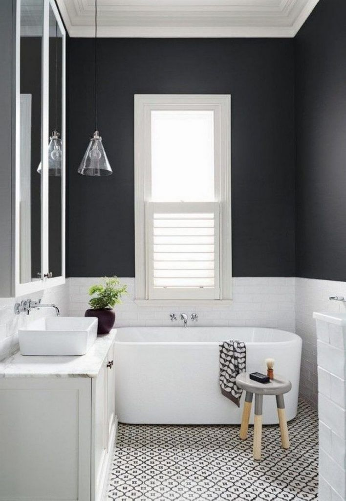 39+ Elegant Black White Bathroom Design Ideas | Bathroom ...