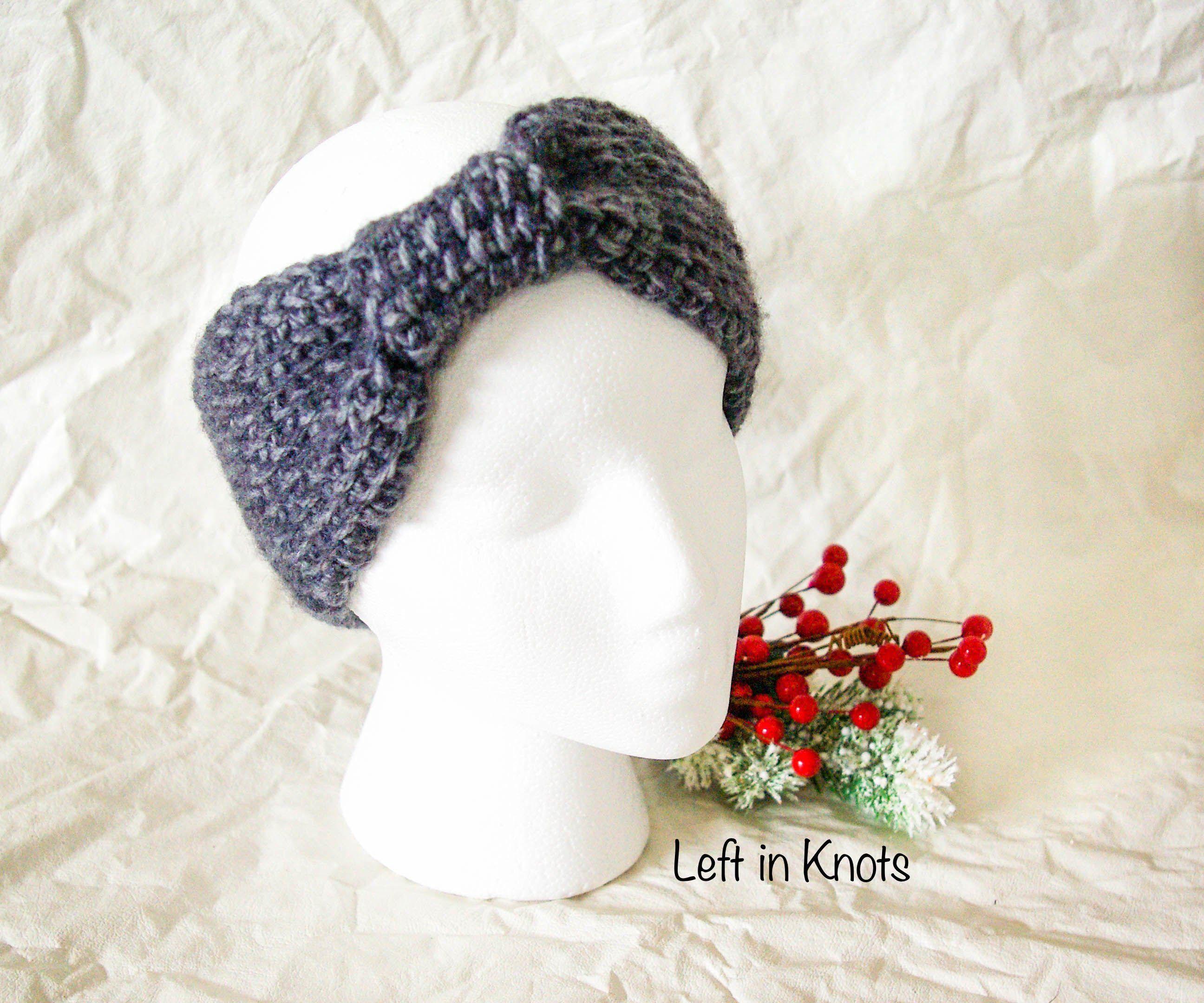 Tunisian Crochet Knotted Ear Warmer   Pinterest   Ganchillo