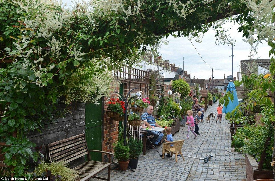 Gardening It S Right Up Our Alley Community Transforms Victorian Passageway Behind Homes Into Oasis Of Greenery Back Gardens English Garden Community Gardening