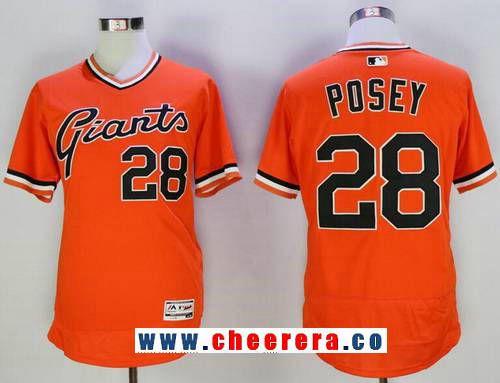 Men's San Francisco Giants #8 Hunter Pence Orange Pullover Stitched MLB Majestic Flex Base Jersey
