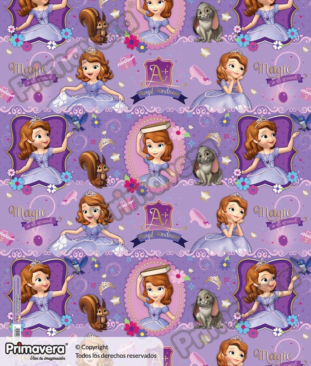 Papel Regalo Princesita Sofia 1-18-915 http://envoltura ...