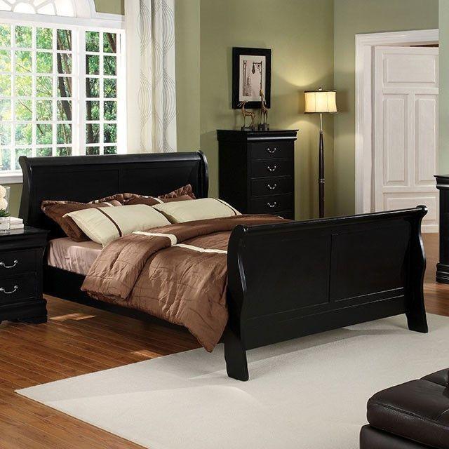 Louis Philippe II Queen Bed Collection CM7825BK-Q