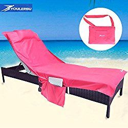 Pool Lounge Cover Towel For Outdoor Adjustable Chaise Lounge Chair, Beach,  Sunbathing, Hotel With Convenient Storage ...
